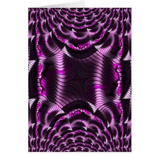 rosa loco del efecto tarjeta de felicitación