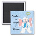 Rosa - los profesores son ángeles… iman para frigorífico