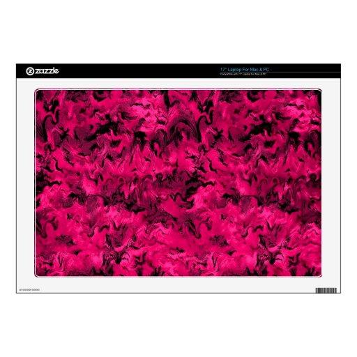 Rosa magenta abstracto retro calcomanía para 43,2cm portátil