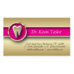 Rosa metálico de visita del oro molar dental de la plantillas de tarjetas personales