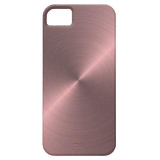 Rosa metálico iPhone 5 fundas
