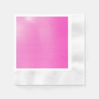 Rosa metálico servilletas desechables