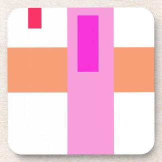 Rosa mínimo geométrico del arte abstracto posavaso