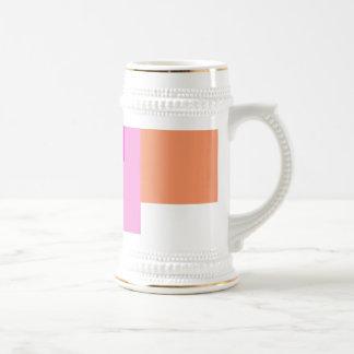 Rosa mínimo geométrico del arte abstracto tazas