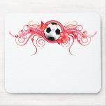 Rosa Mousepad de la flor de mariposa del fútbol Alfombrilla De Ratón