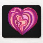 Rosa Mousepad del corazón del amor Tapete De Ratones