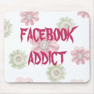 Rosa Mousepad floral del adicto a Facebook