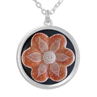 Rosa Round Pendant Necklace