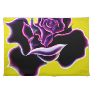 Rosa negra mantel individual