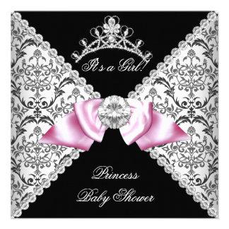 Rosa negro de la princesa fiesta de bienvenida al invitaciones personales
