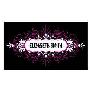 Rosa/negro góticos preciosos de la tarjeta de visi plantilla de tarjeta personal