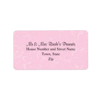 Rosa negro y en colores pastel con el boda sutil d etiqueta de dirección