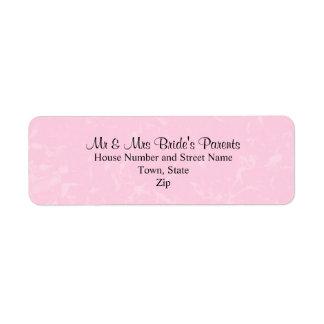 Rosa negro y en colores pastel con el boda sutil d etiqueta de remite