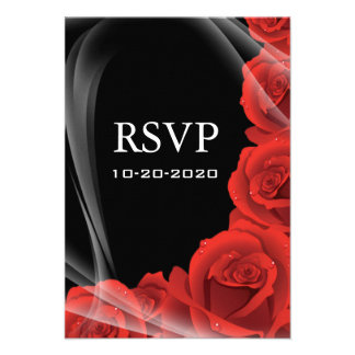 Rosa negro y rojo que casa tarjetas de la respuest anuncios personalizados