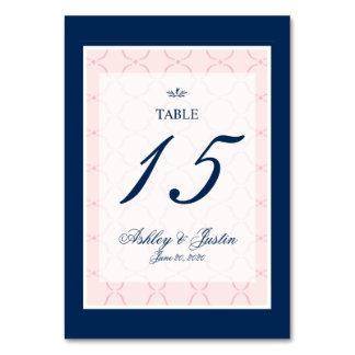 Rosa, número tradicional de la tabla del boda de l