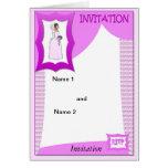 Rosa nupcial tarjeta de felicitación