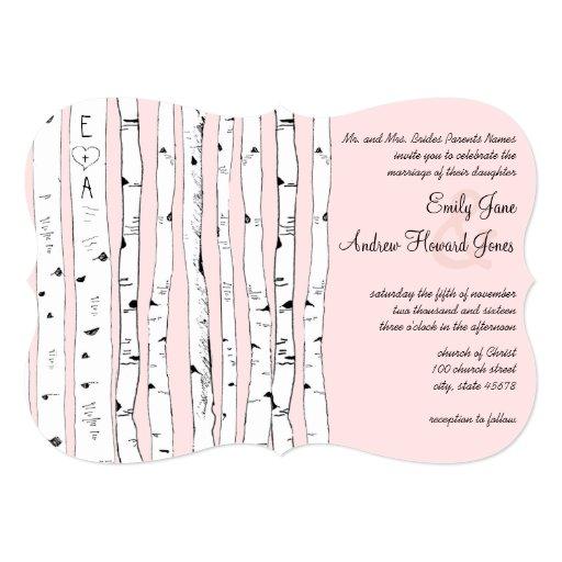 ROSA O CUAESQUIERA invitaciones del boda del árbol Invitación 12,7 X 17,8 Cm
