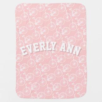 Rosa o cualquier manta del bebé de la bicicleta mantas de bebé