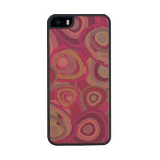Rosa orgánico funda de arce carved® para iPhone 5