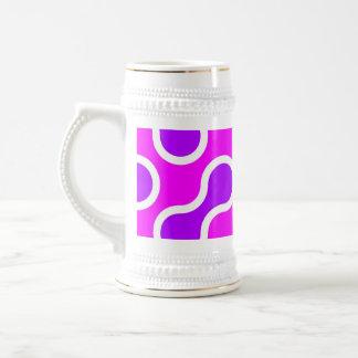 Rosa orgánico y blanco del modelo texturizados jarra de cerveza