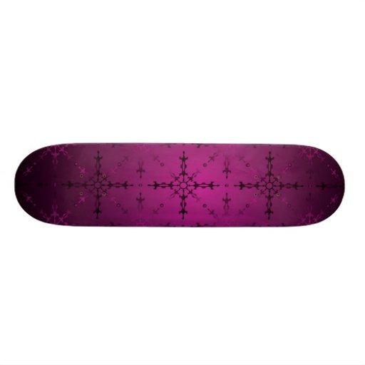 rosa oscuro skate board