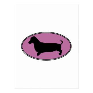 Rosa oval del Dachshund Postal