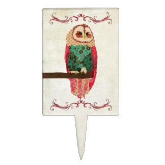 Rosa Owl Vintage Cake Topper