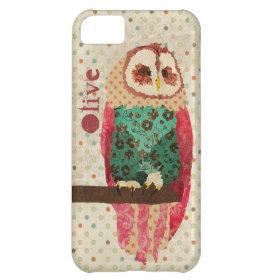 Rosa Owl Vintage iPhone Case iPhone 5C Case