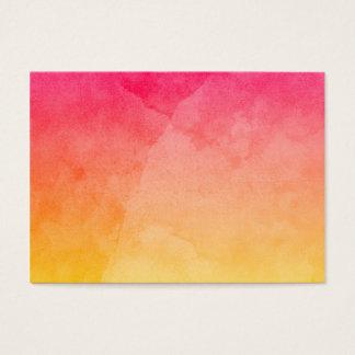 Rosa para amarillear la acuarela tarjetas de visita grandes