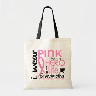 Rosa para el héroe en cáncer de pecho de la abuela bolsas lienzo