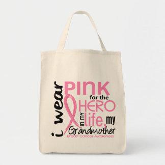 Rosa para el héroe en cáncer de pecho de la abuela bolsas