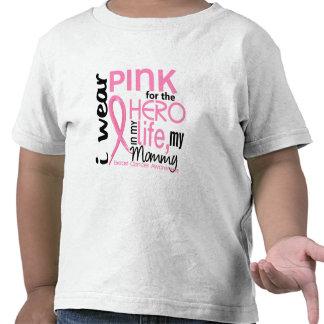 Rosa para el héroe en cáncer de pecho de la mamá d camisetas