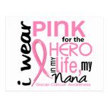 Rosa para el héroe en cáncer de pecho de Nana de l Tarjeta Postal