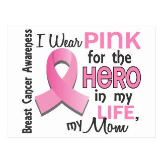 Rosa para el héroe en mi cáncer de pecho de la tarjeta postal