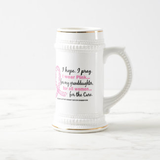Rosa para mi cinta rosada afiligranada de la nieta tazas de café