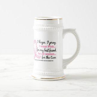 Rosa para mi cinta rosada afiligranada del mejor a tazas