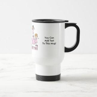 Rosa para una taza adaptable del viaje de la