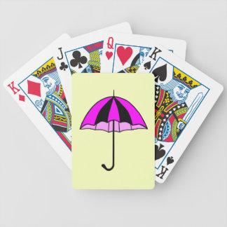 Rosa, paraguas, naipe estándar de encargo del baraja cartas de poker