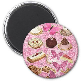 Rosa París del chocolate del vintage de la tentaci Imán Redondo 5 Cm