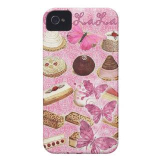 Rosa París del vintage de las galletas de la iPhone 4 Case-Mate Carcasas