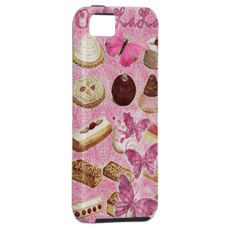 Rosa París del vintage de las galletas de la iPhone 5 Fundas