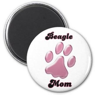 Rosa Pawprint - imán de la mamá del beagle