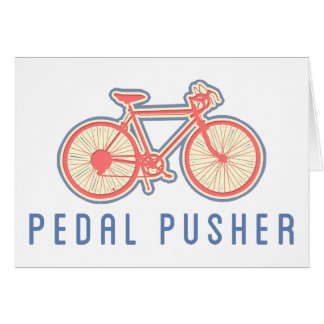 Rosa Pedaling de la bicicleta Tarjeta De Felicitación