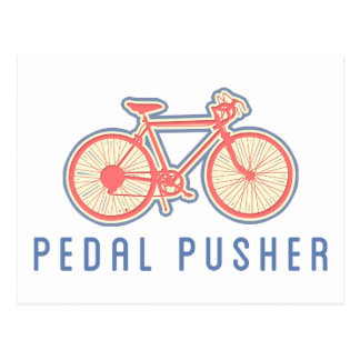 Rosa Pedaling de la bicicleta Postales