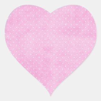 Rosa Pegatina En Forma De Corazón