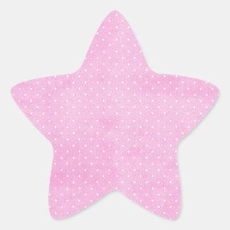 Rosa Pegatina En Forma De Estrella