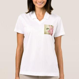 Rosa, peonies, vintage, floral, grunge, llevado, polo camisetas