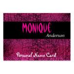 Rosa personal del crujido del negro de la tarjeta  plantilla de tarjeta de visita