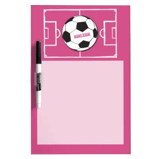 Rosa personalizado de la bola y del campo de tableros blancos