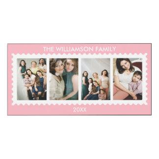 Rosa personalizado de la foto de familia del marco impresión en madera